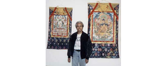 Kumar with his Thangkas