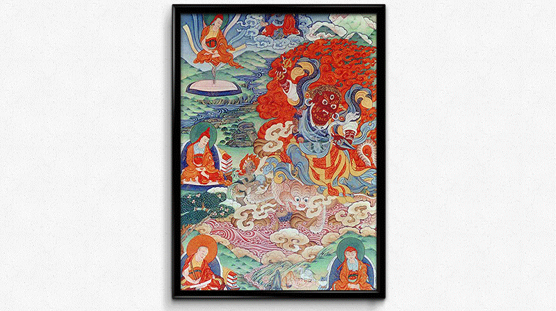 Dorje Drollo Thangka Painting by Kumar Lama