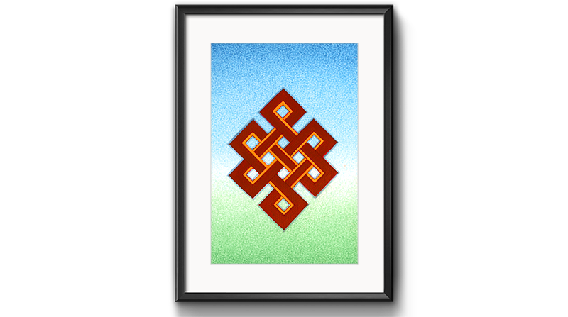 The Endless Knot (8 Auspicious Symbols) by Kumar Lama